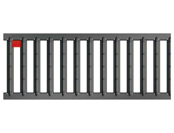 Решетка для каналов ACO Self (оцинкованная сталь с порошковым покрытием антрацит)
