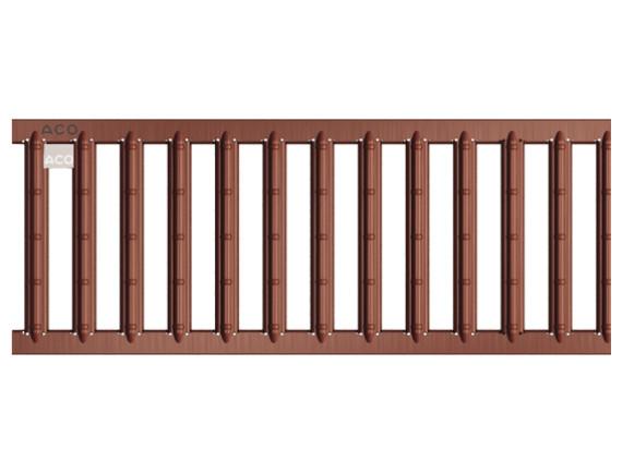 Решетка для каналов ACO Self (оцинкованная сталь с порошковым покрытием терракот)