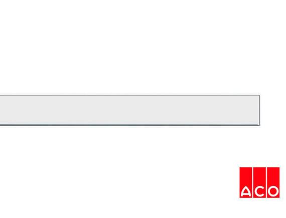 Решётка из камня (белая) для прямого канала ACO ShowerDrain E-line
