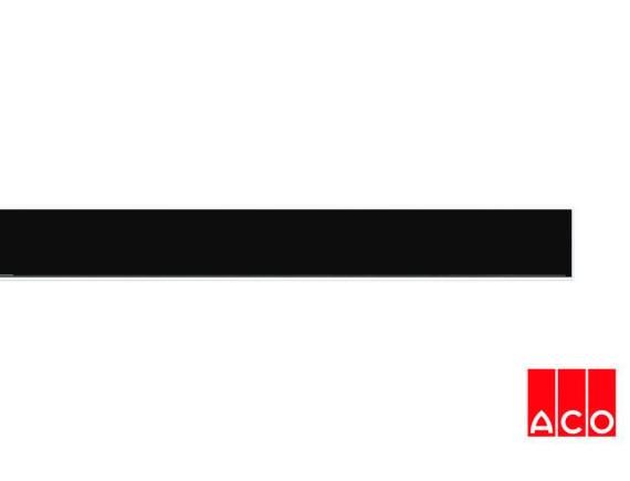 Решётка из камня (черная) для прямого канала ACO ShowerDrain E-line