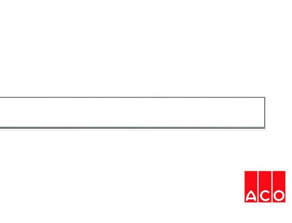 Решётка из стекла (белая) для прямого канала ACO ShowerDrain E-line
