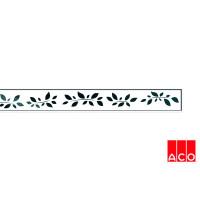 Решётка из стекла (белая с рисунком) для прямого канала ACO ShowerDrain E-line