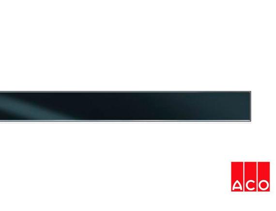 Решётка из стекла (черная) для прямого канала ACO ShowerDrain E-line