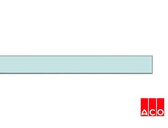 Решётка из стекла (хром) для прямого канала ACO ShowerDrain E-line