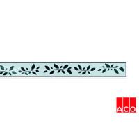 Решётка из стекла (хром с рисунком) для прямого канала ACO ShowerDrain E-line