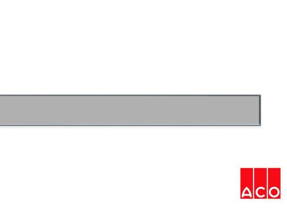 Решётка из стекла (серая) для прямого канала ACO ShowerDrain E-line