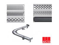 Душевой канал с решеткой дугообразный ACO ShowerDrain E-line (правое исполнение)