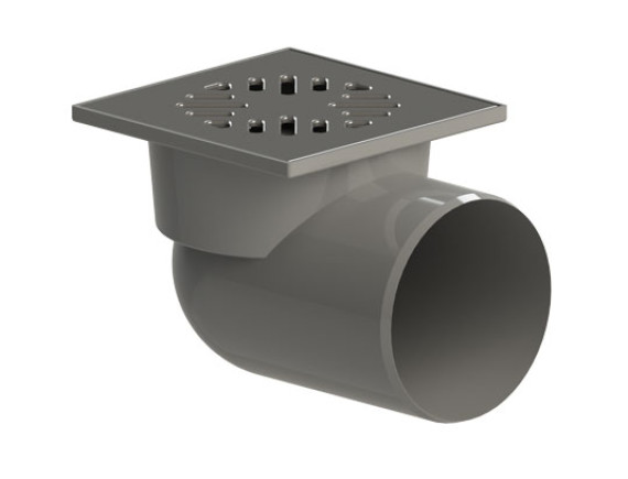"""Трап горизонтальный с двойным затвором (гидрозатвор + механический """"сухой"""" затвор) ТП-105.110-150HP(Hs+Ms)"""