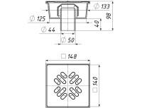 Трап вертикальный с «сухим» затвором ТП-102.50-150VSDs