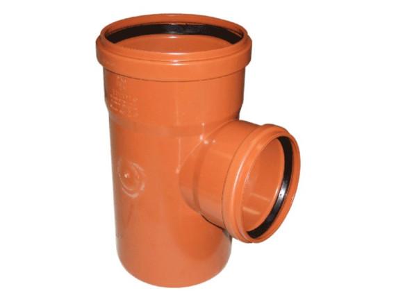 Тройник канализационный наружный с редукцией Ø110 - Ø160 PP