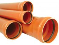Труба канализационная наружная ПВХ Ø160 PVC-U Armakan