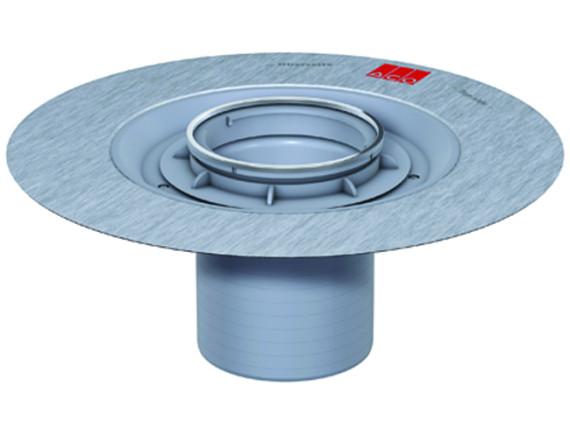 Верхняя часть трапа ACO EasyFlow под круглую решётку (с фланцем)