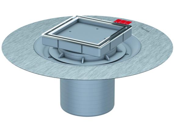 Верхняя часть трапа ACO EasyFlow под квадратную решётку Tile (с фланцем)