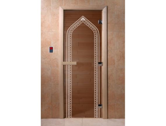"Дверь для бани ""Арка"" (бронза)"