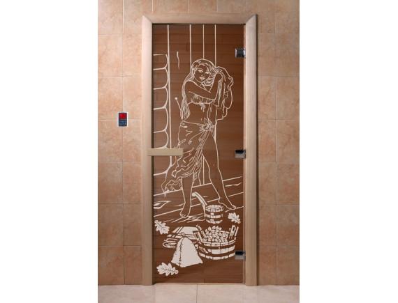 """Дверь для бани """"Дженифер"""" (бронза)"""