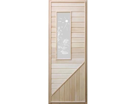 Дверь для бани (со стеклом прямоугольным)
