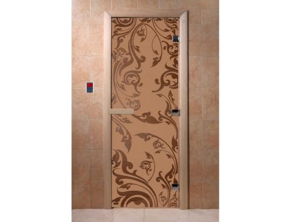 """Дверь для бани """"Венеция"""" (бронза матовая)"""
