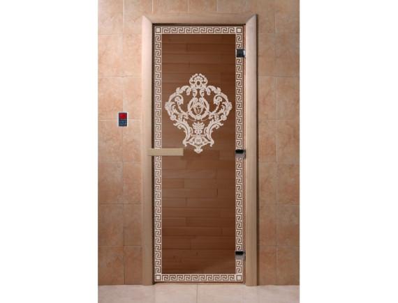 """Дверь для бани """"Версаче"""" (бронза)"""