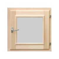 Окно-форточка для бани (стеклопакет, ольха)