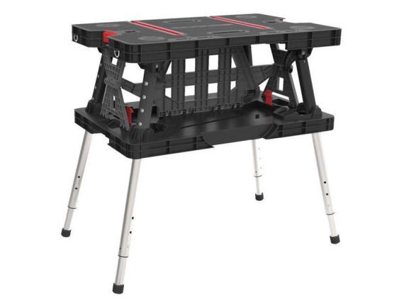 Стол рабочий Keter Folding working table с аксессуарами (черный)