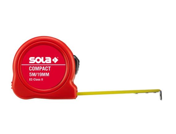 """Рулетка 5м/19мм SOLA """"Compact"""" CO 5m"""