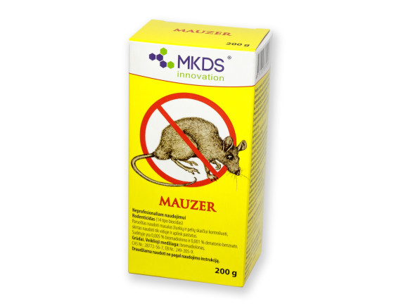 Крысиный яд. Родентицид для борьбы с грызунами Mauzer (200-600г.)