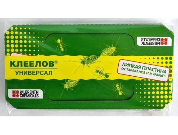 "Липкая пластина от тараканов и муравьев ""Клеелов"", 5 шт."