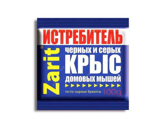 Средство против грызунов Зарит ИСТРЕБИТЕЛЬ ТриКота, тесто-сырные брикеты, 100г