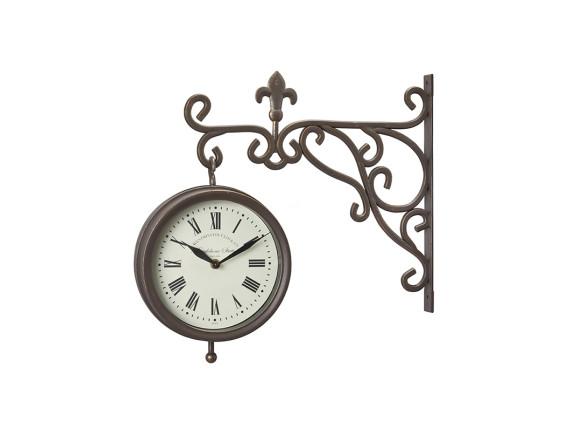 Часы на кронштейне двусторонние с термометром York Station Smart Garden