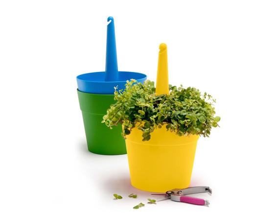 Кашпо подвесное Rainbow planter 3 предмета, мультиколор