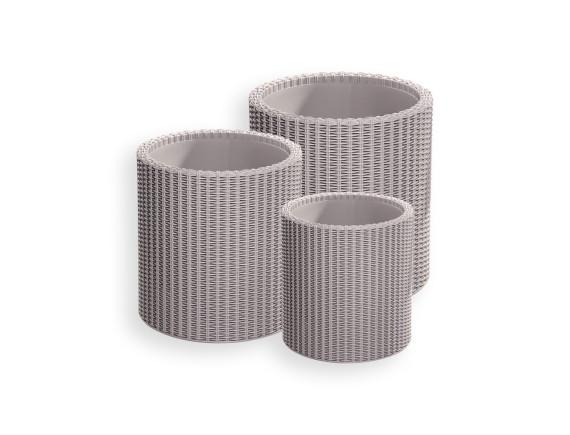 Набор кашпо Cylinder Planter (набор из 3-х шт), песочный