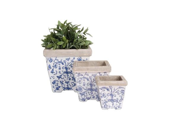 Кашпо квадратные Aged Ceramic Esschert Design