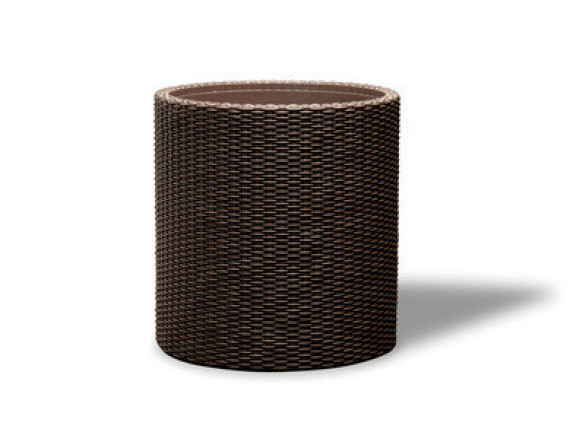 Кашпо напольное Cylinder Planter M (1 шт.), коричневый