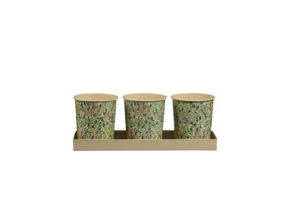 Набор мини-кашпо для трав «Жимолость» William Morris Honeysuckle Briers