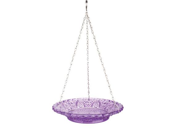 Кормушка для птиц стеклянная Esschert Design (фиолетовая)