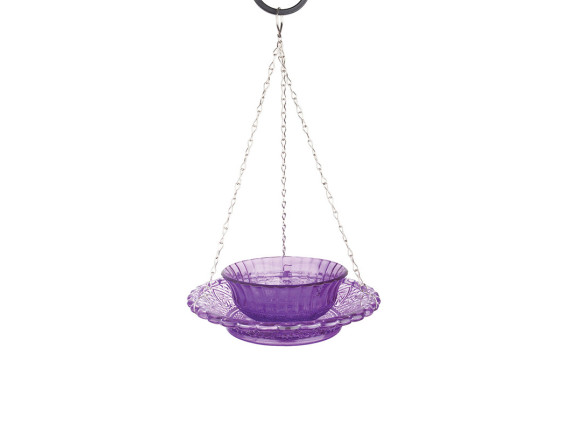 Кормушка для птиц стеклянная двойная Esschert Design (фиолетовая)