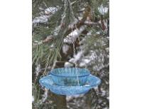 Кормушка для птиц стеклянная двойная Esschert Design (голубая)