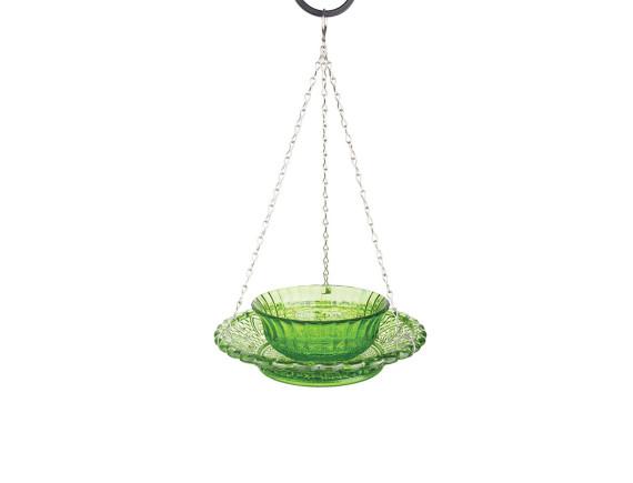 Кормушка для птиц стеклянная двойная Esschert Design (зеленая)