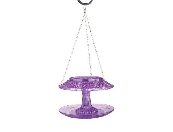 Кормушка для птиц стеклянная крытая Esschert Design (фиолетовая)