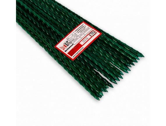 Колышки для растений композитные с заостренным концом, окрашенные, цвет зеленый, 1 м, 10мм