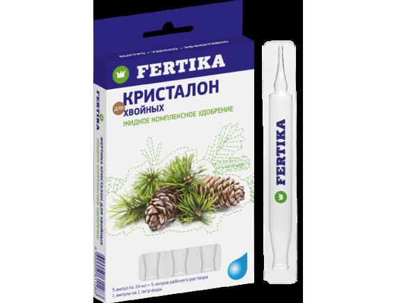 КРИСТАЛОН - для хвойных, жидкое комплексное удобрение, 5 ампул по 10мл