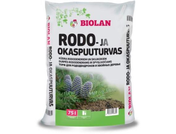 Торф для рододендронов и хвойных деревьев Biolan
