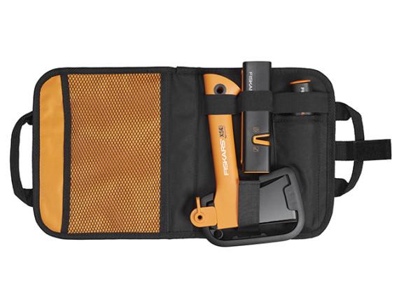 Топор туристический X5 Fiskars + нож + точилка (комплект в сумке)