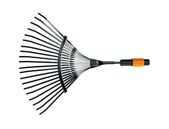 Грабли для уборки листьев 20 зубцов Fiskars QuikFit (135201)