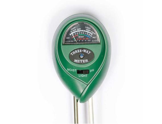 Анализатор влажности, уровня кислотности почвы и освещенности механический ULI-770280