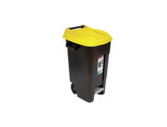 Контейнер для мусора пластиковый с педалью 120л TAYG (423017)