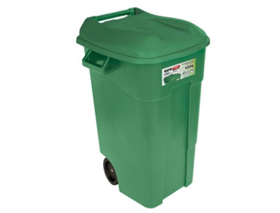 Контейнер для мусора пластиковый зеленый 120л TAYG (424007)
