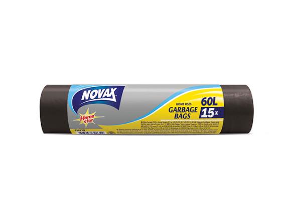 Мешки для мусора 60л/15шт NV NOVAX