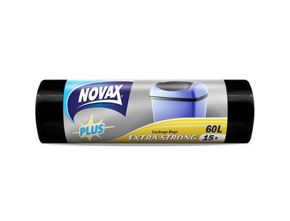 Мешки для мусора 60л/15шт NV Plus NOVAX