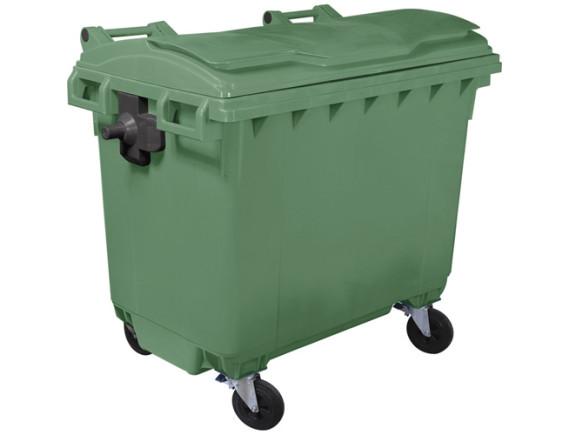 Мусорный контейнер 660 л (цвета в ассортименте)